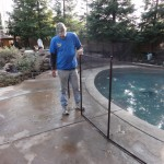 Pool Guard Removable Pool Fence by Folsom Lake Fence Company